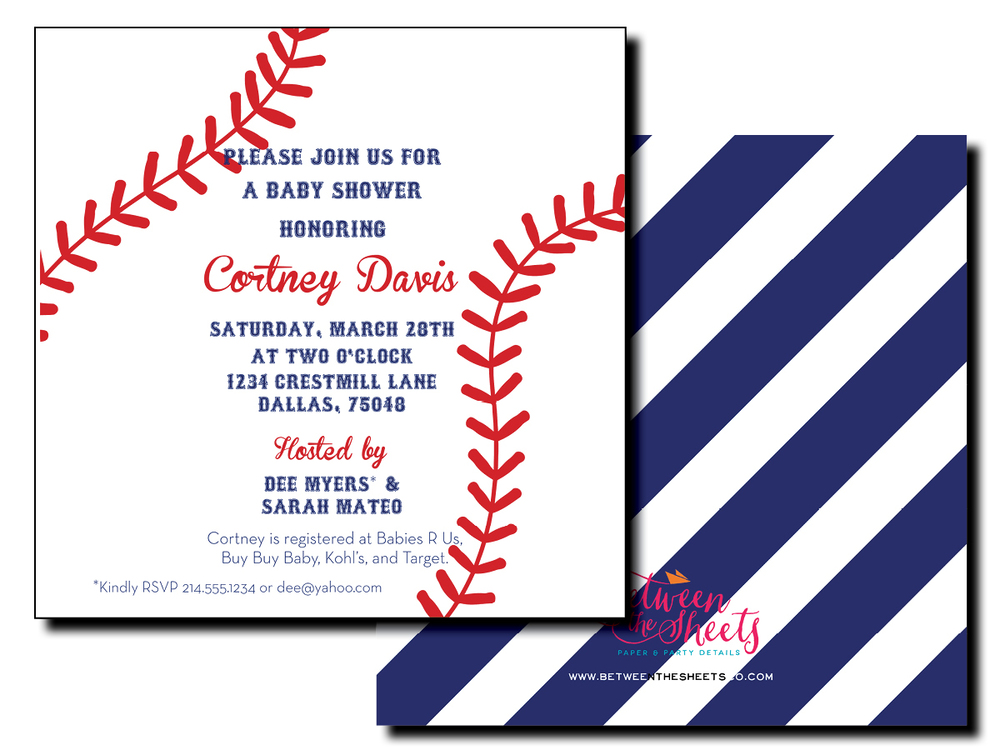 Baseball Invitations For Baby Shower with beautiful invitation example