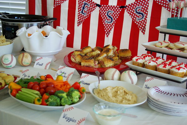 food-table-decor-baseball-shower-baby