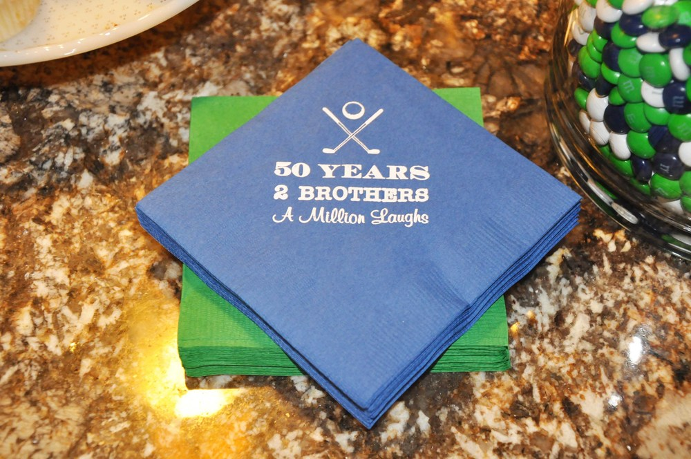 napkins custom personalized golf party