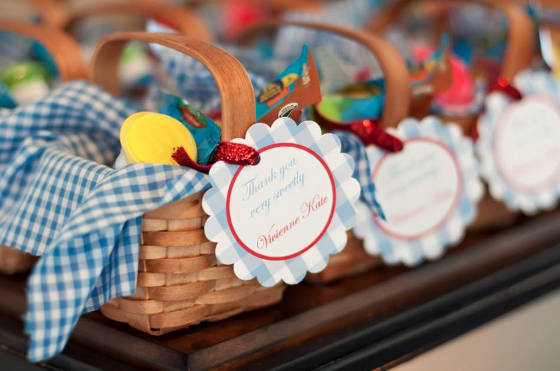 party favor wizard of oz baskets favor tags