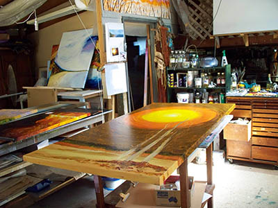 Work Benches in the Studio