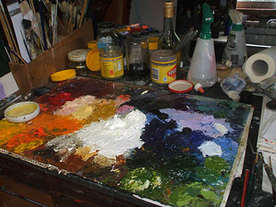 Oil Paint Palette