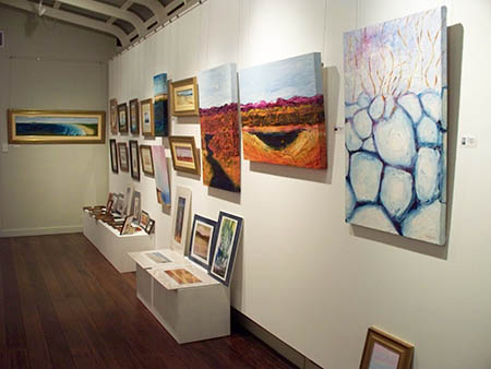 Macleay Valley Community Art Gallery. back room south wall