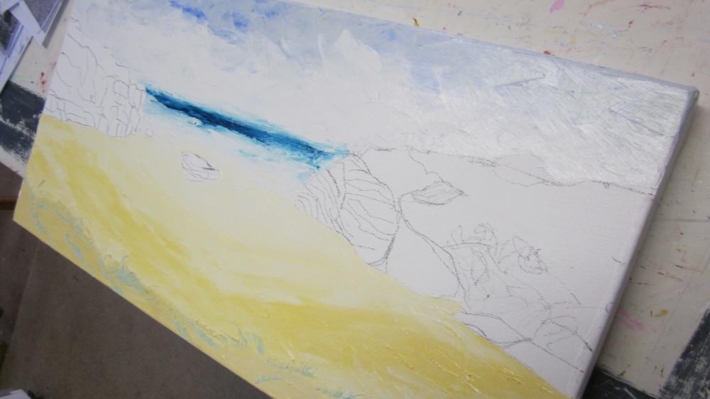 Sand work .....