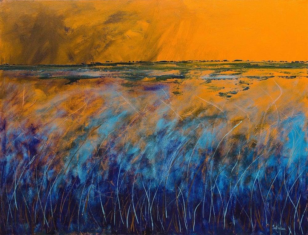 Spirits in The Grass : 76cm x 112cm, Acrylic on Canvas : $1190 AUD