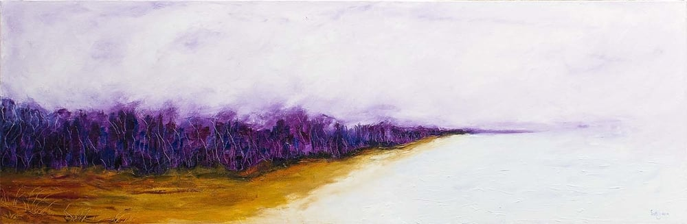 Visions in The Mist : 61cm x 182cm, Oil on Canvas, $1820 AUD