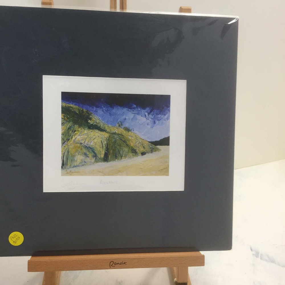 Rockface, Little Bay South West Rocks $105 Signed limited Edition Print 2/400 A4 Size image , Large Blue mat. P142