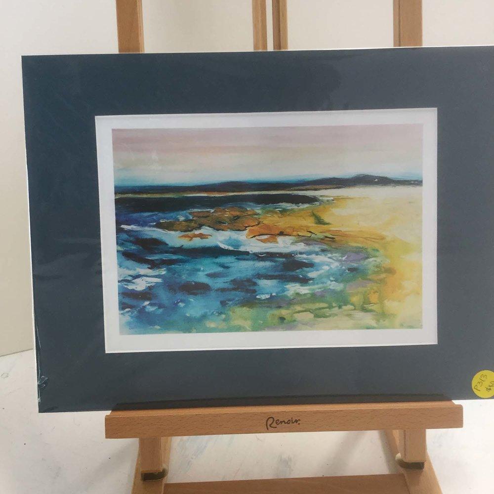 The Rocks, Trial Bay,SWR, P313 $40 A4 Photo Print/ Blue Mat