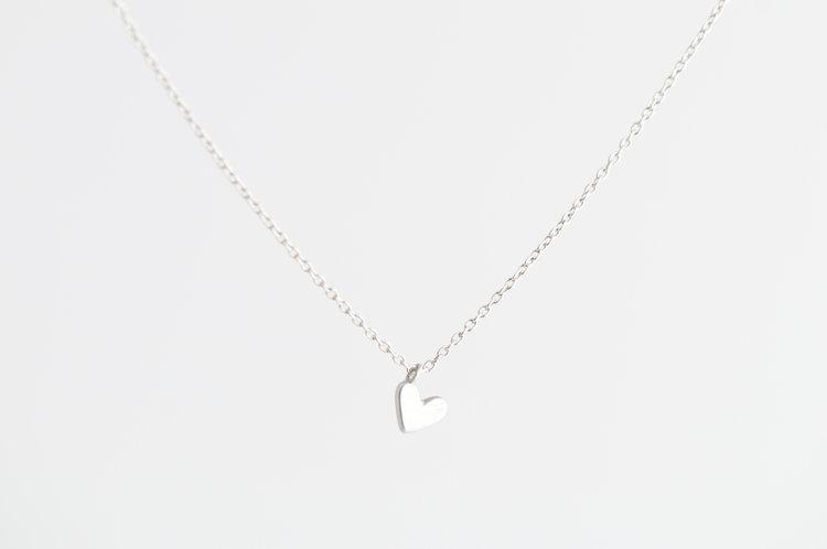 Silver heart necklace emi grannis silver heart necklace aloadofball Gallery
