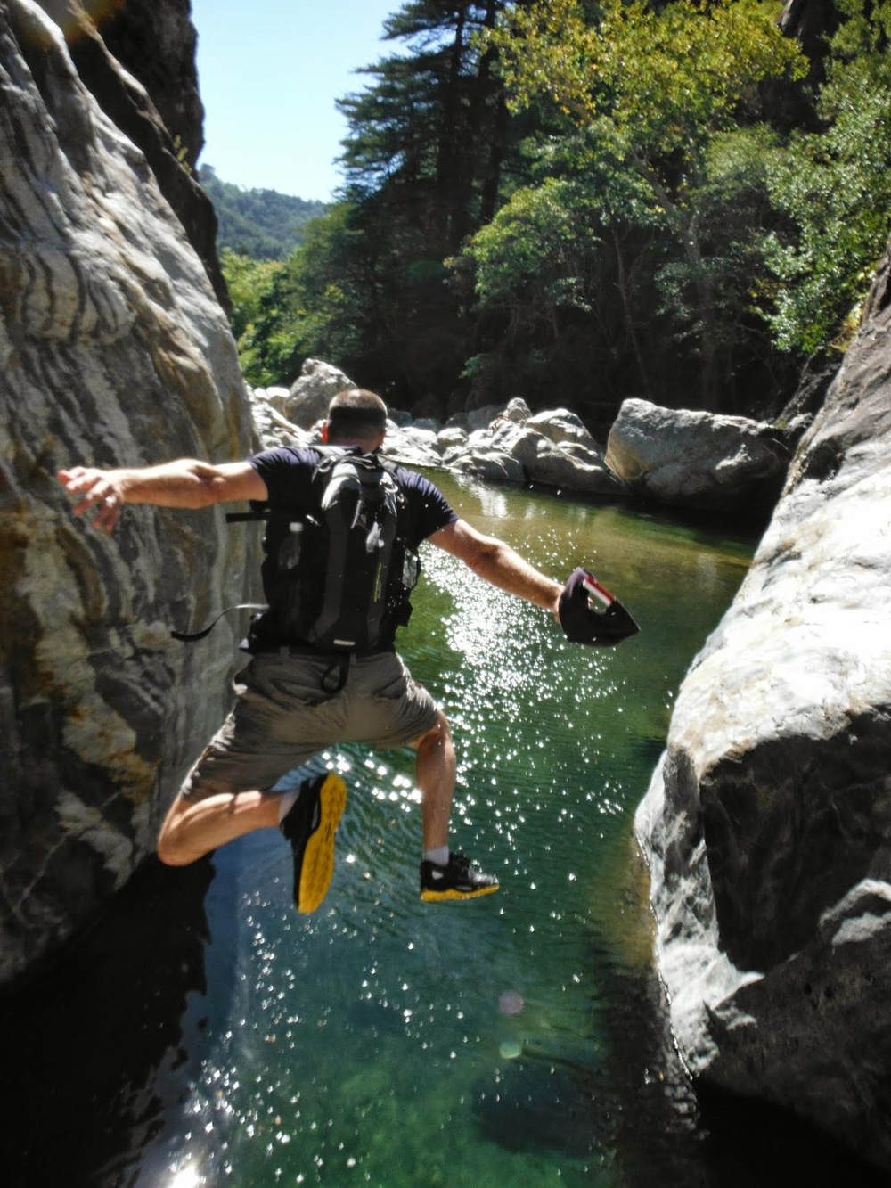 A very awesome google image of what its like to jump off the giant rock