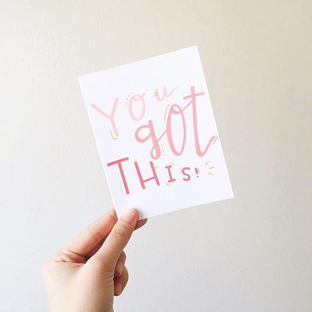 You got this, girl! #britstagram #diy #iamcreative #50daysoflettering  #regram via @seulghi