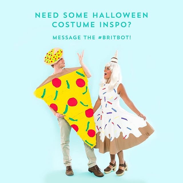 Looking for a #Halloween costume idea for next weekend?  We got you. Message the #BritBot on Facebook Messenger. #britstagram #bchalloween