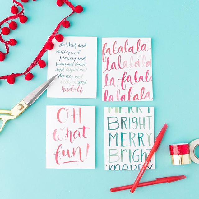 FA LA LA LA! ⭐️ Send season's greetings with our FREE printable Friday holiday cards! Click the link in bio to download. #britstagram #bcholiday