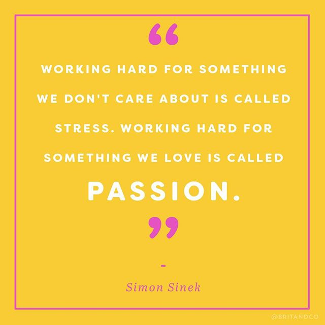 Follow your passion. ✨ #britstagram