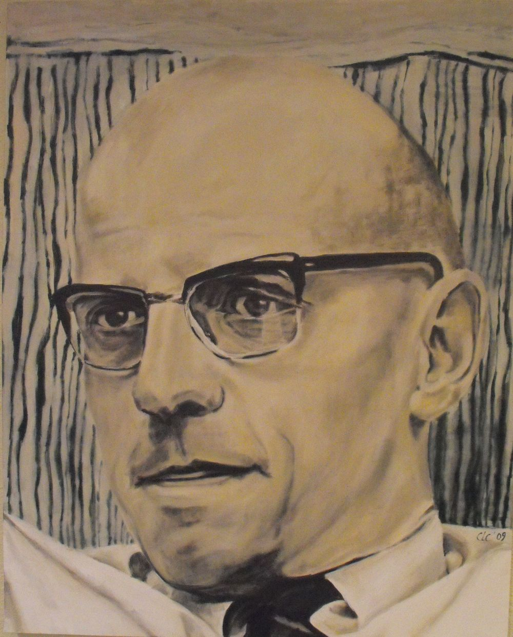 """Foucault"", Oil on canvas, 2009"