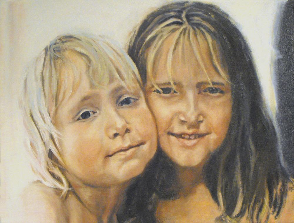 """Ida og Siri"", Oil on canvas, 2009"