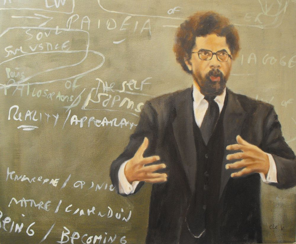"""Cornel West"", Oil on canvas, 2009"
