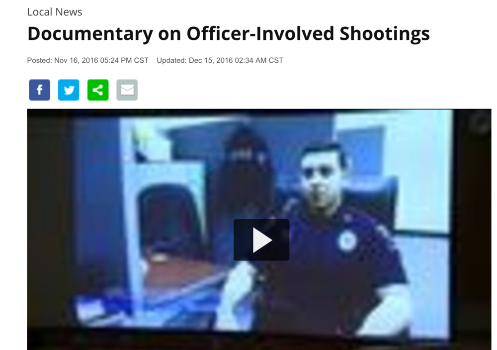 Documentary on Officer-Involved Shootings   WKBT- TV