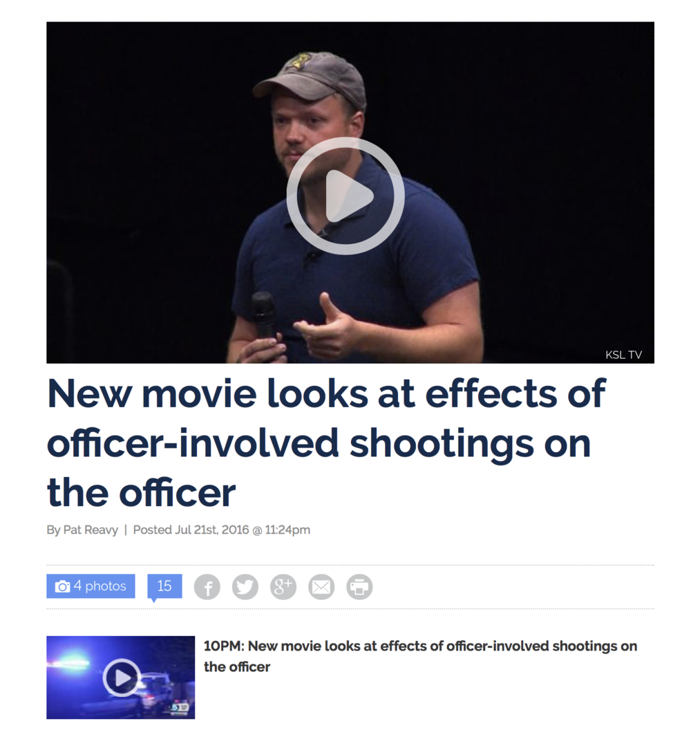 New movie looks at effects of officer-involved shootings on the officer.   KSL