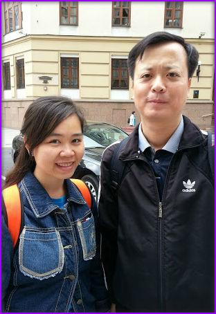 Vy (izq.)y Trung