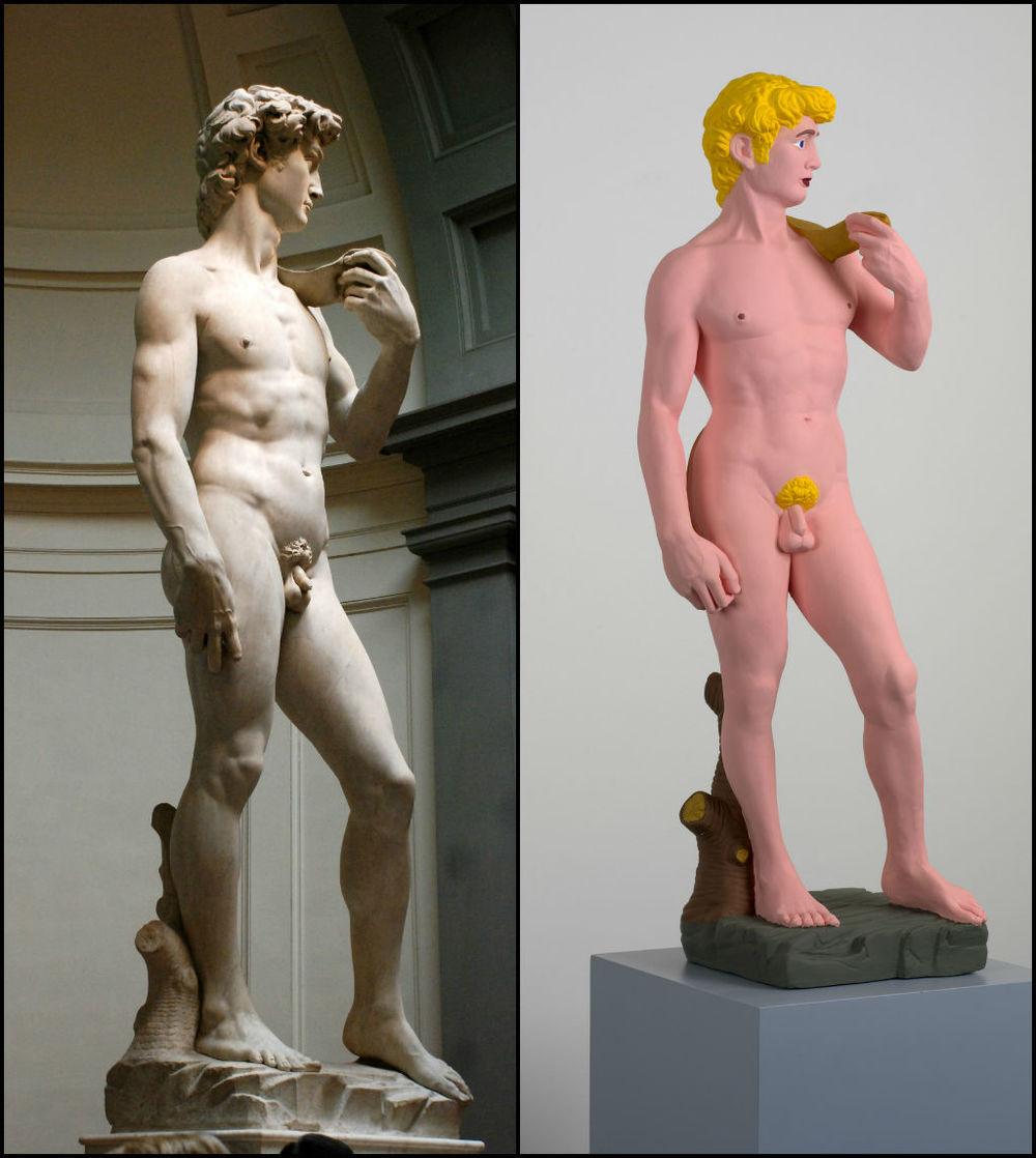 """""""David"""" (1501-1504), por Miguel Ángel y """"David"""" (2006), por Hans-Peter Feldmann"""