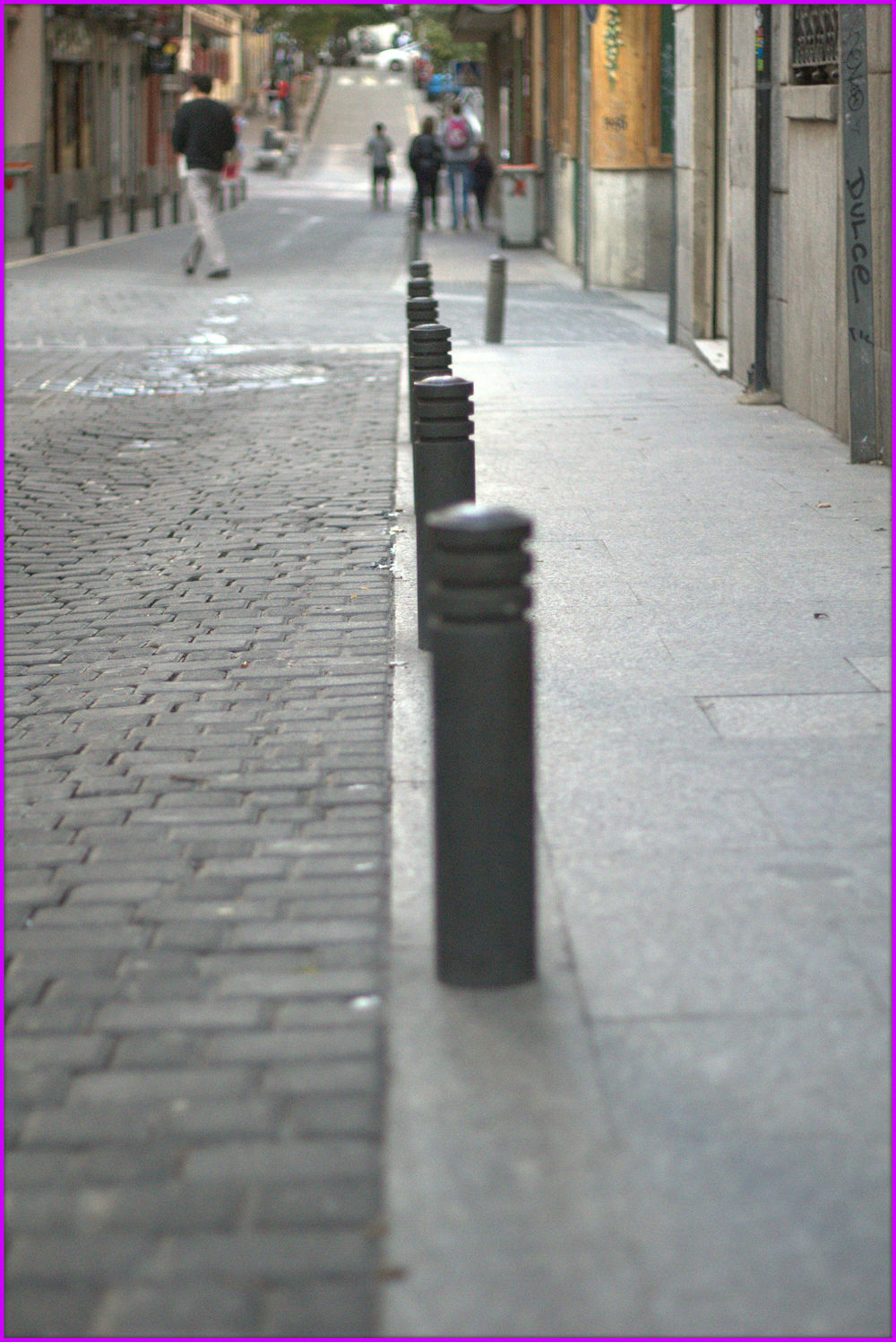 Calle Fúcar, el Barrio de las Letras, Madrid, España - Octubre 2014
