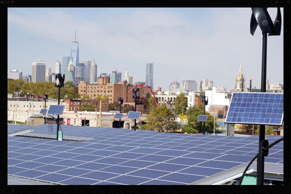 Mi vista desde la terraza. Brooklyn, NY - Octubre 2014