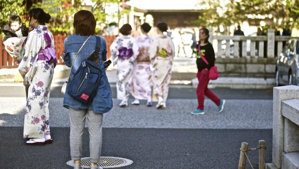 Geishas de hoy, geishas de ayer. Tokyo, Japón - Abril 2015