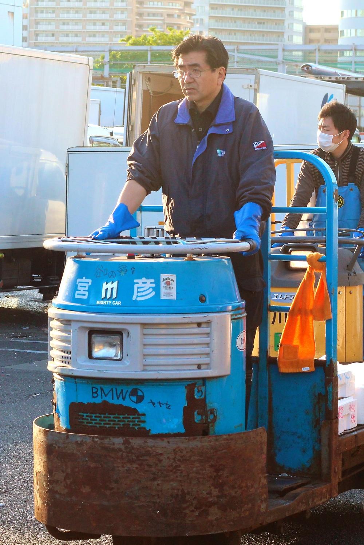 """""""BMW"""". Mercado de pescados. Tokyo, Japón - Mayo 2015"""