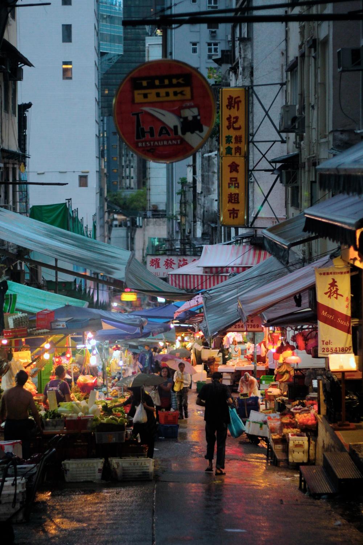Mercadillo - La isla de noche Hong Kong - Mayo 2015