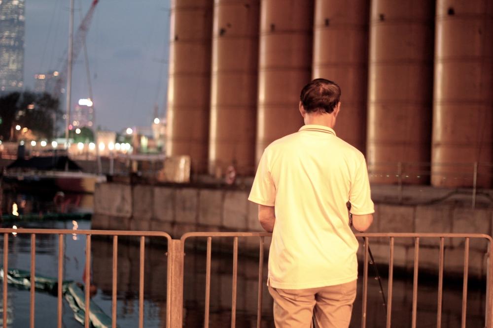 Pescador - La isla de noche Hong Kong - Mayo 2015