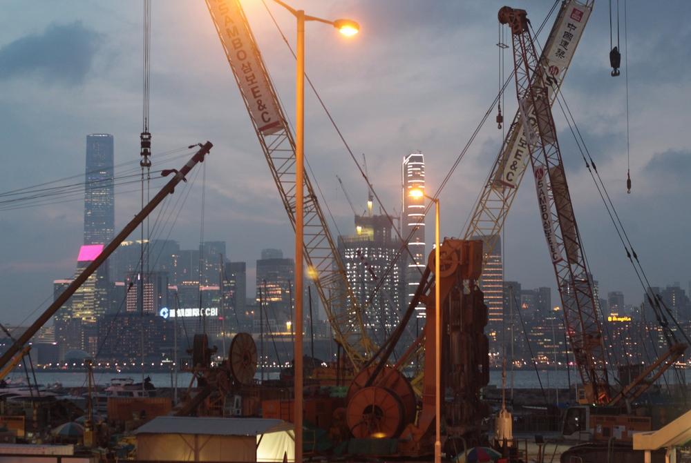 Puerto - La isla de noche Hong Kong - Mayo 2015