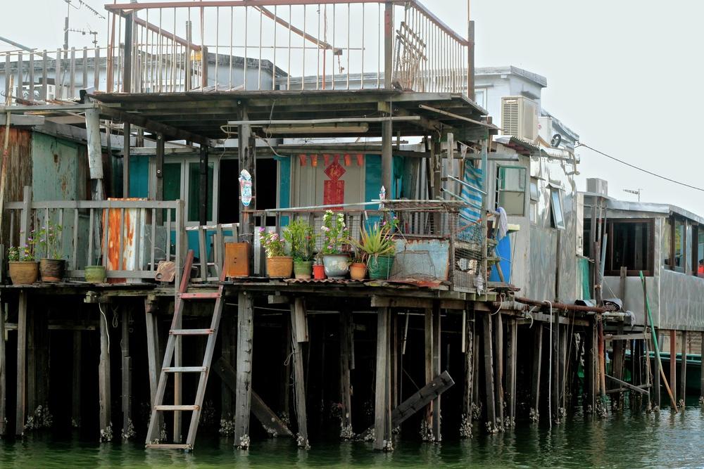 Pueblo de pescadores Isla Lantau, Hong Kong - Mayo 2015