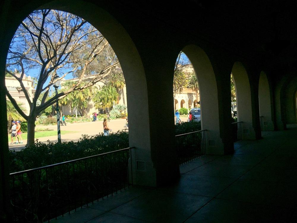 Galería del Parque Balboa. San Diego, CA, EEUU.Febrero 2016