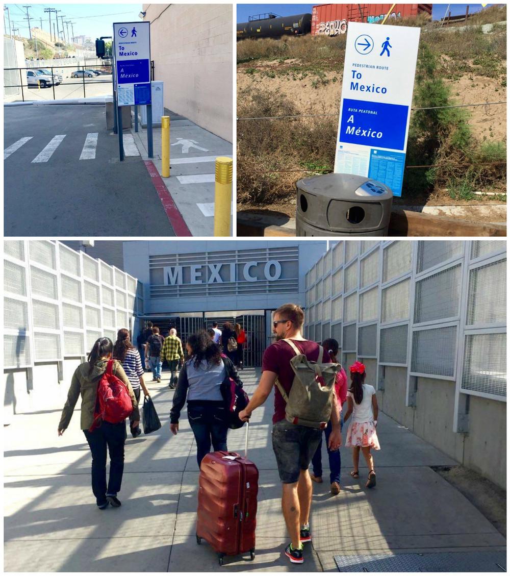 Aduana fronteriza San Ysidro - Tijuana. San Diego, CA, EEUU.Febrero 201