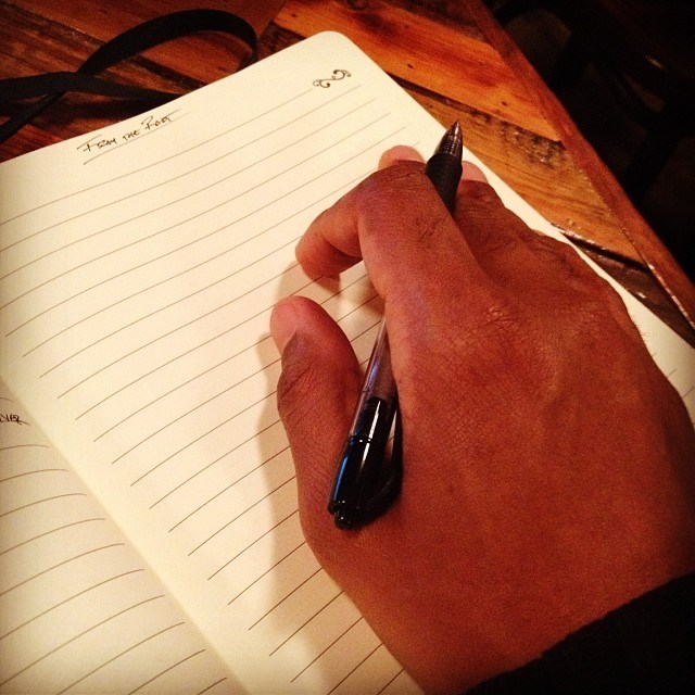 There's no better joy than feeling up these pages... Writing on the phone is aight but I prefer a pen and a pad so I can FEEL what's being written...#INeedToWrite #LinesOnMyMind #DigginInThePapes