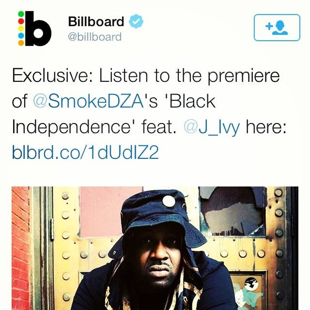 IT'S GOING TO BE ONE OF THEM KIND OF YEARS!!! NEW JOINT w/ the Homie @SmokeDZA!! S/O to @Billboard!! LET'S GO!!! #BLACKINDEPENDENCE #HIPHOP #SmokeDza #Billboard BillboardMagazine