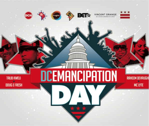 DC!! This Wednesday I'll be performing at The Emancipation Day Concert being held at Freedom Hall Plaza - 1455 Pennsylvania Ave NW, Washington, DC - I'll be rocking with Doug E. Fresh, MC Lyte, Talib Kweli, Raheem Devaughn, Arrested Development, Black Alley Band, and DJ Kool... The show starts at 4PM. COME KICK IT!!
