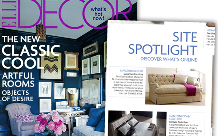 Elle Decor - M. Frederick