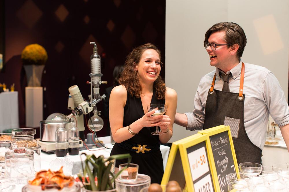 Shoots & Roots' Rachel Meyer withKevin Denton, Bar Director of Alder