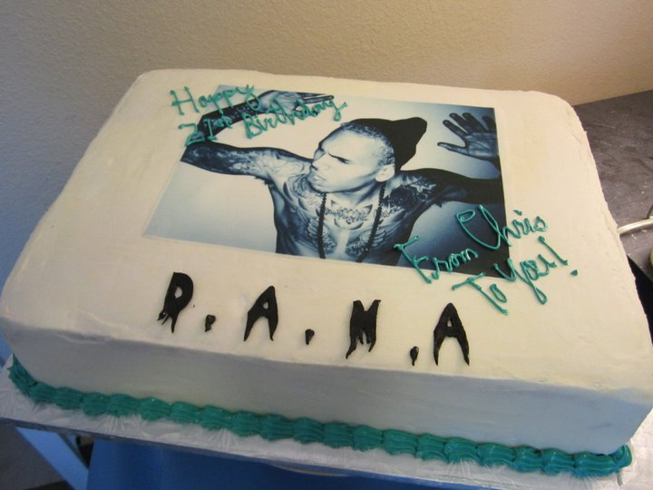 Dana's Chris Brown birthday cake.