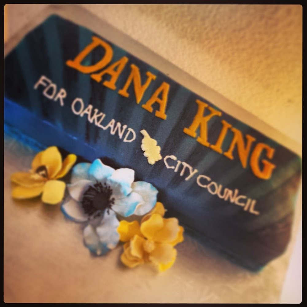 The cake I made for Dana King campaign fundraiser.