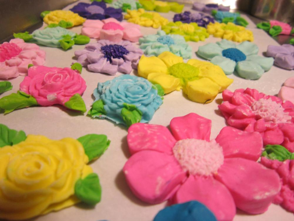 Candy flowers for a cake I was working on.