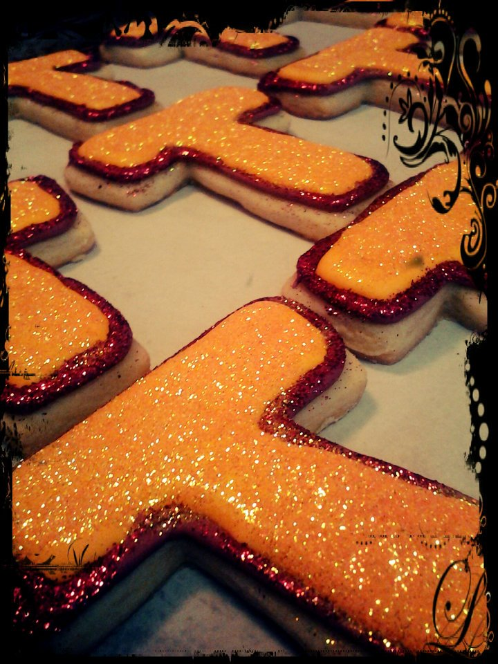"Glitter cookies for ""Youth Together"" a non profil organization in Oakland."