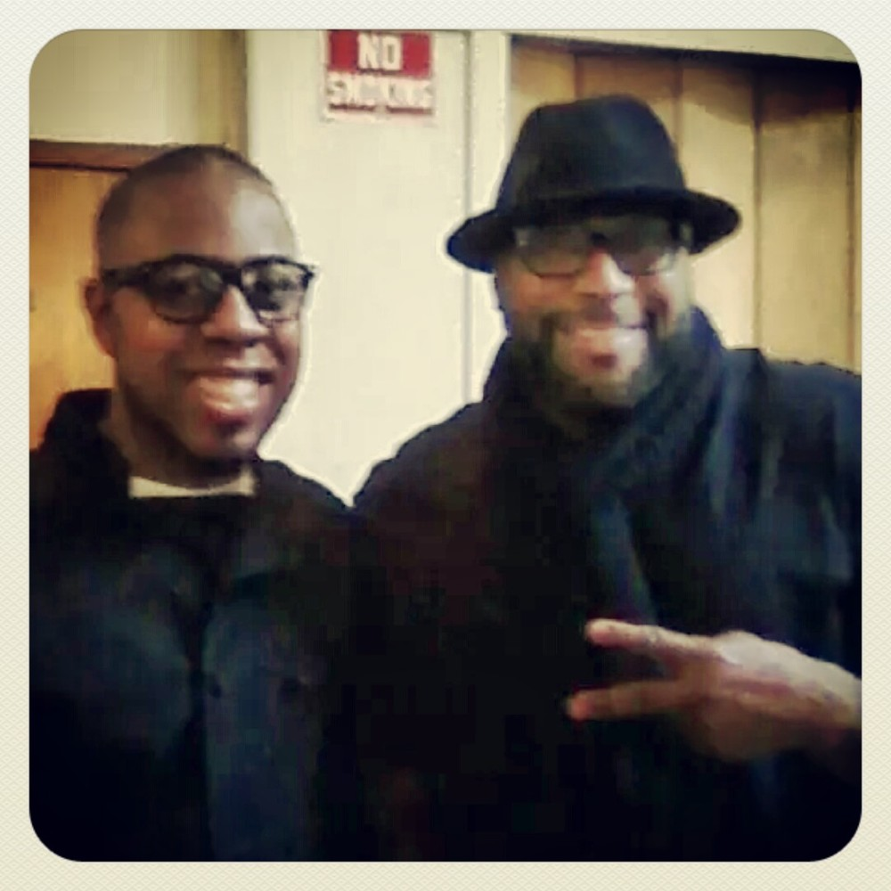 Me and Celebrity Chef G. Garvin at a cooking demo in Oakland.