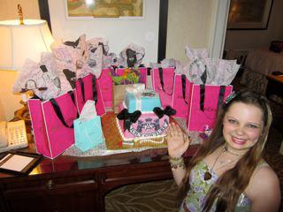 A happy teenager and the Juicy Couture cake I made for her.