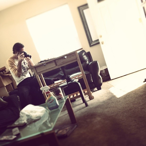 Photographer Luke James at my place snapping cookie pics.