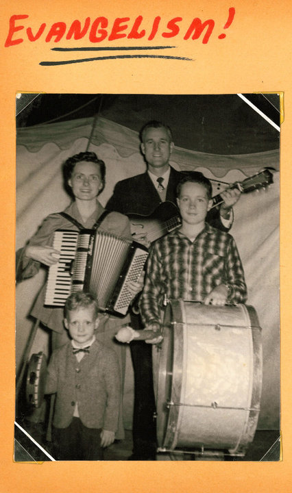 Pastor John & Ruth with sons Nathan & David in Japan