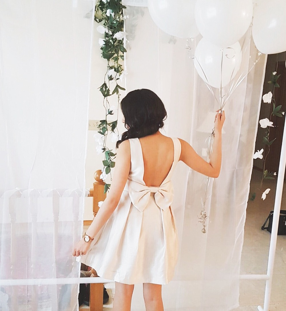the dress i was wearing is from lulus here however it is sold out ive linked some of my other top choices for bridal shower looks for you to shop below
