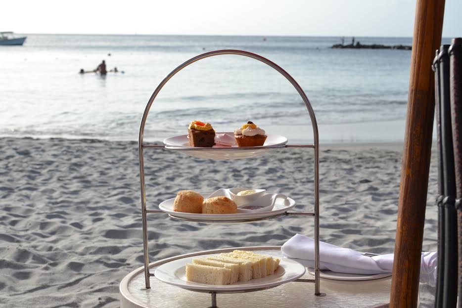 High tea on the beach